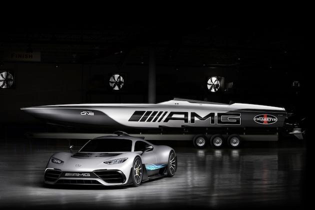 メルセデスAMGとシガレット・レーシングが、ハイパーカー「プロジェクト・ワン」をモチーフにしたスピードボートを発表!
