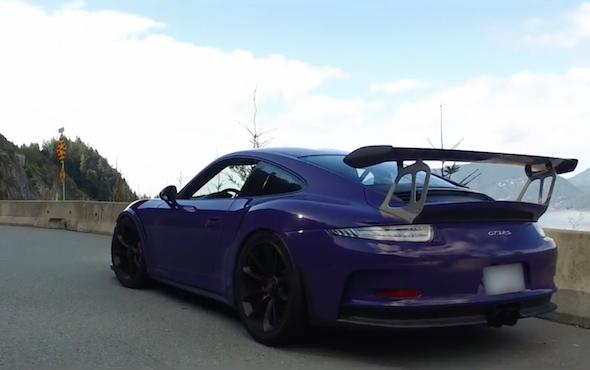 Ultraviolet Porsche 911 GT3 RS wows in drive video , AOL