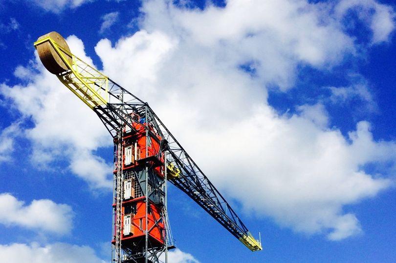 Hotel inside a crane