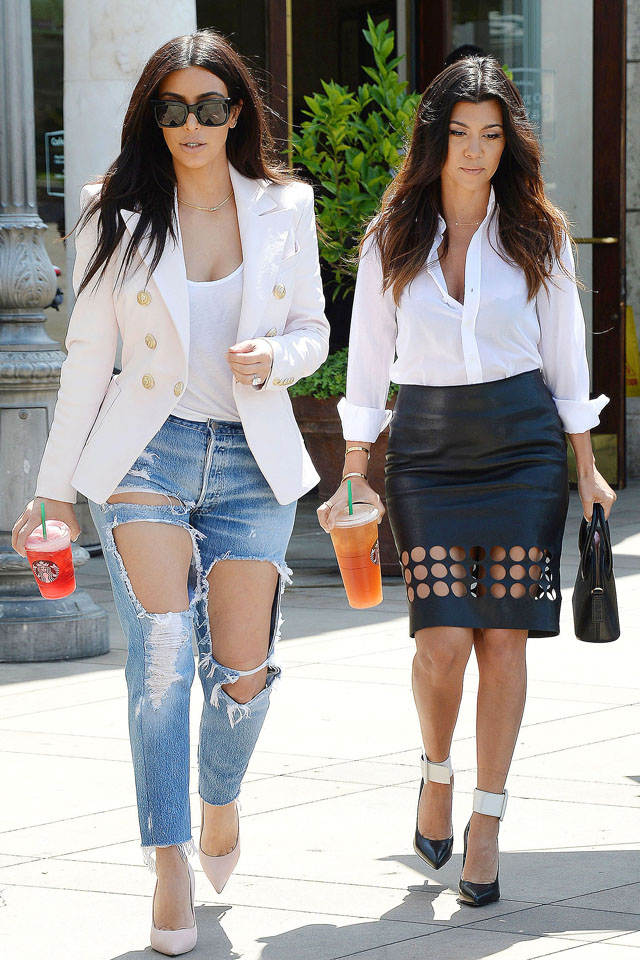Mandatory Credit: Photo by Broadimage/REX (3706635x) Kim Kardashian and Kourtney Kardashian Kim Kardashian and Kourtney Kardashian out and about, Los Angeles, America - 21 Apr 2014 Kim Kardashian and sister Kourtney out and about in Calabasas