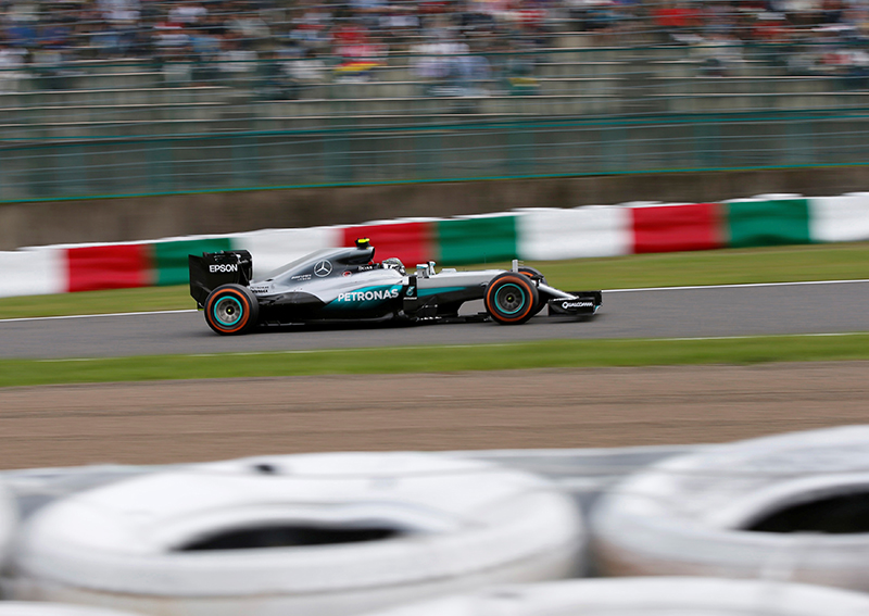 Mercedes' driver Nico Rosberg of Germany in action during the race