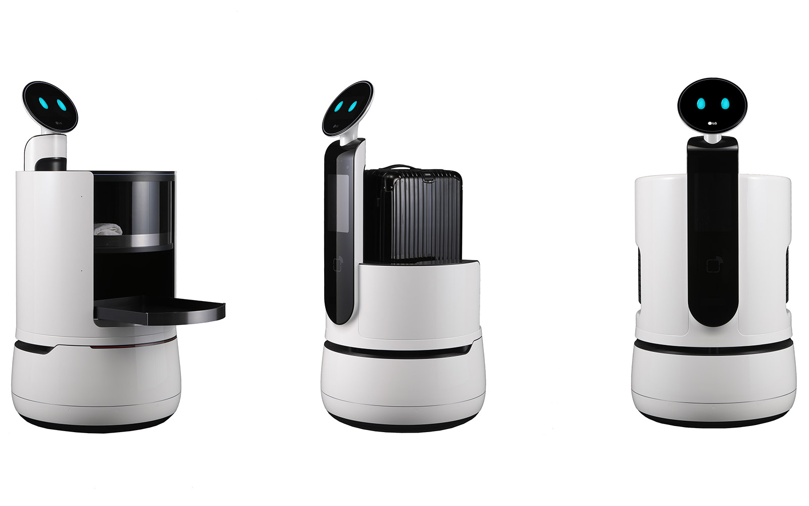 Lg 39 s new cloi robots are designed for hotels and supermarkets for Product design singapore