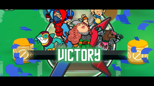 Victory screen in Flick Knights