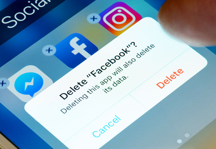 Deleting Facebook is easier said than done