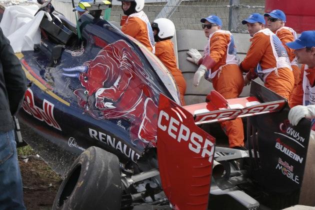 【ビデオ】F1ロシアGPフリー走行におけるカルロス・サインツJr.のクラッシュ映像