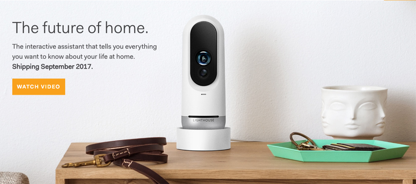Lighthouse home security camera uses AI to ID people and pets
