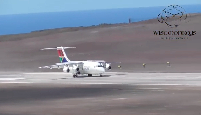 First passenger plane lands at 'useless' St Helena airport