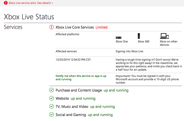 Xbox Live and PlayStation Network both down due to an