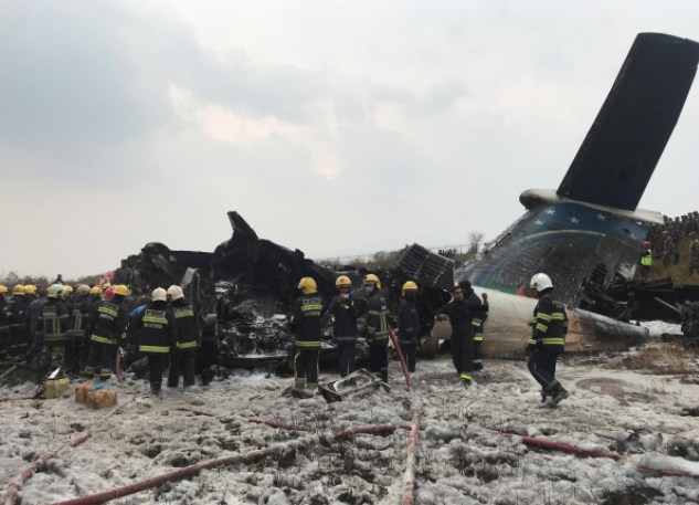 Bangladesh Plane Crashes in Nepal, 49 People Confirmed
