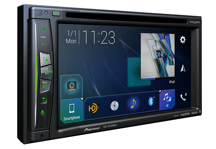 Pioneer's in-dash unit supports both Android Auto Wireless and CarPlay