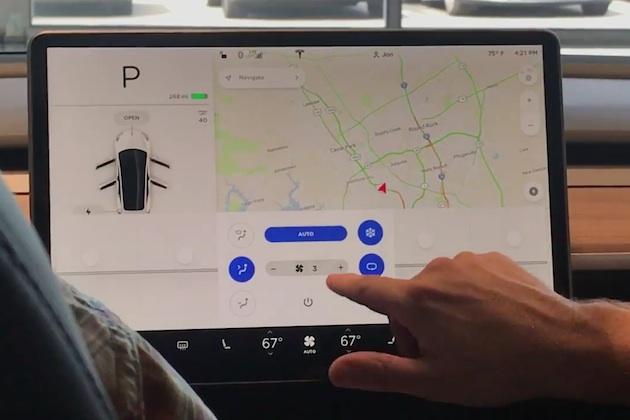 【ビデオ】テスラ「モデル3」は送風からワイパーまで全て大型タッチスクリーンで操作 すっきりしたインテリアは使い勝手に疑問も!?