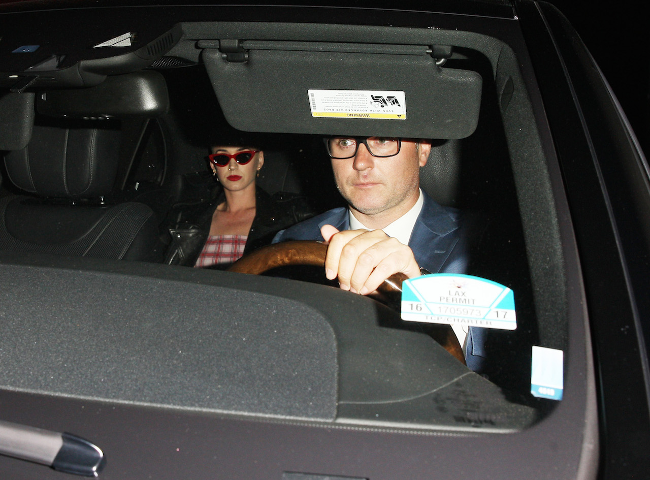 Katy Perry leaves the Peppermint club after celebrating Jennifer Meyer's 40th birthday in West Hollywood. Orlando Bloom also attended the birthday party for Jennifer Meyer at the Peppermint club. Katy and Orlando recently split up but now knowing that they both were at a club attending a party. There's a possibility that the two might try to get back together again. 23 Apr 2017 Pictured: Katy Perry. Photo credit: MEGA TheMegaAgency.com +1 888 505 6342 (Mega Agency TagID: MEGA31140_002.jpg) [Photo via Mega Agency]