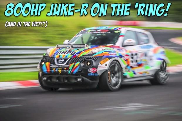 【ビデオ】最高出力800hpにカスタマイズされた日産「ジュークR」のニュルでの走り