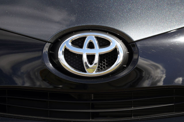 File photo dated 04/08/16 of a Toyota car badge. Uncertainty over Brexit could jeopardise future investment in the UK by Toyota, a senior executive at the carmaker warned.