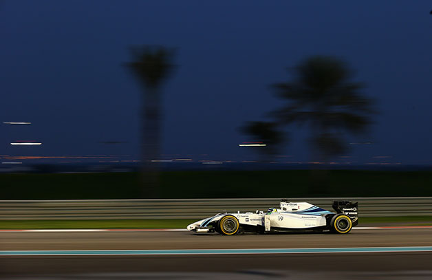 Felipe Massa drives during the 2014 Abu Dhabi F1 Grand Prix.