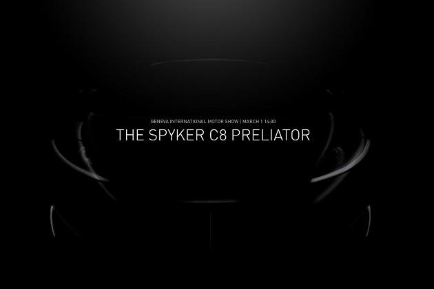 スパイカー、ジュネーブ・モーターショーで発表する「C8プレリエーター」のティーザー画像を公開