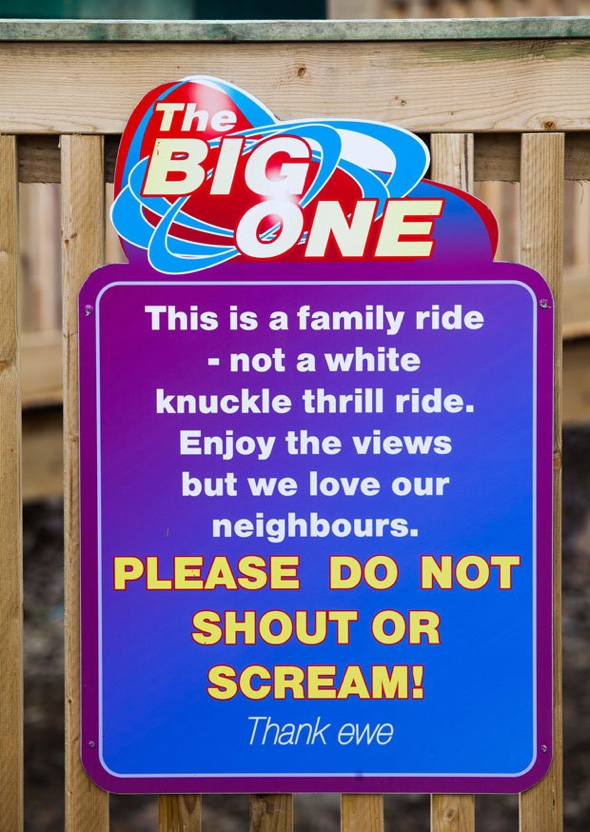 Theme park 'bans screaming' on new rollercoaster
