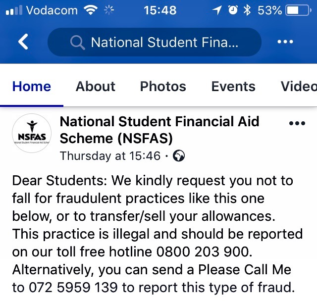 Students Are Still Selling NSFAS Bursary Vouchers For