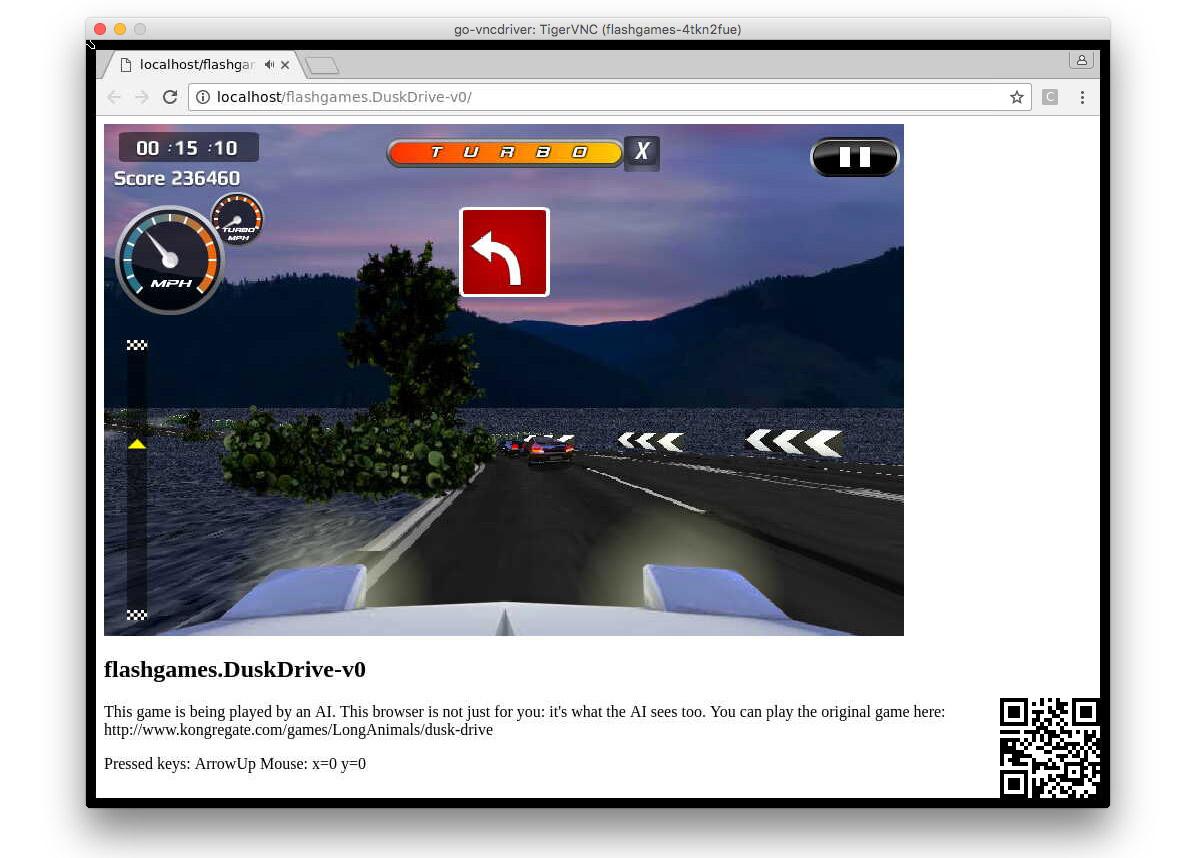Dusk Drive oyununu oynayan bir OpenAI aracı