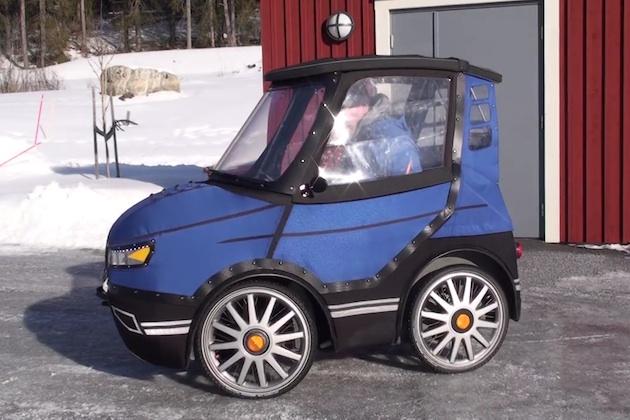 これで雨や雪の日も快適に通勤! 北欧のデザイナーが自作した電動4輪自転車「ポッドライド」