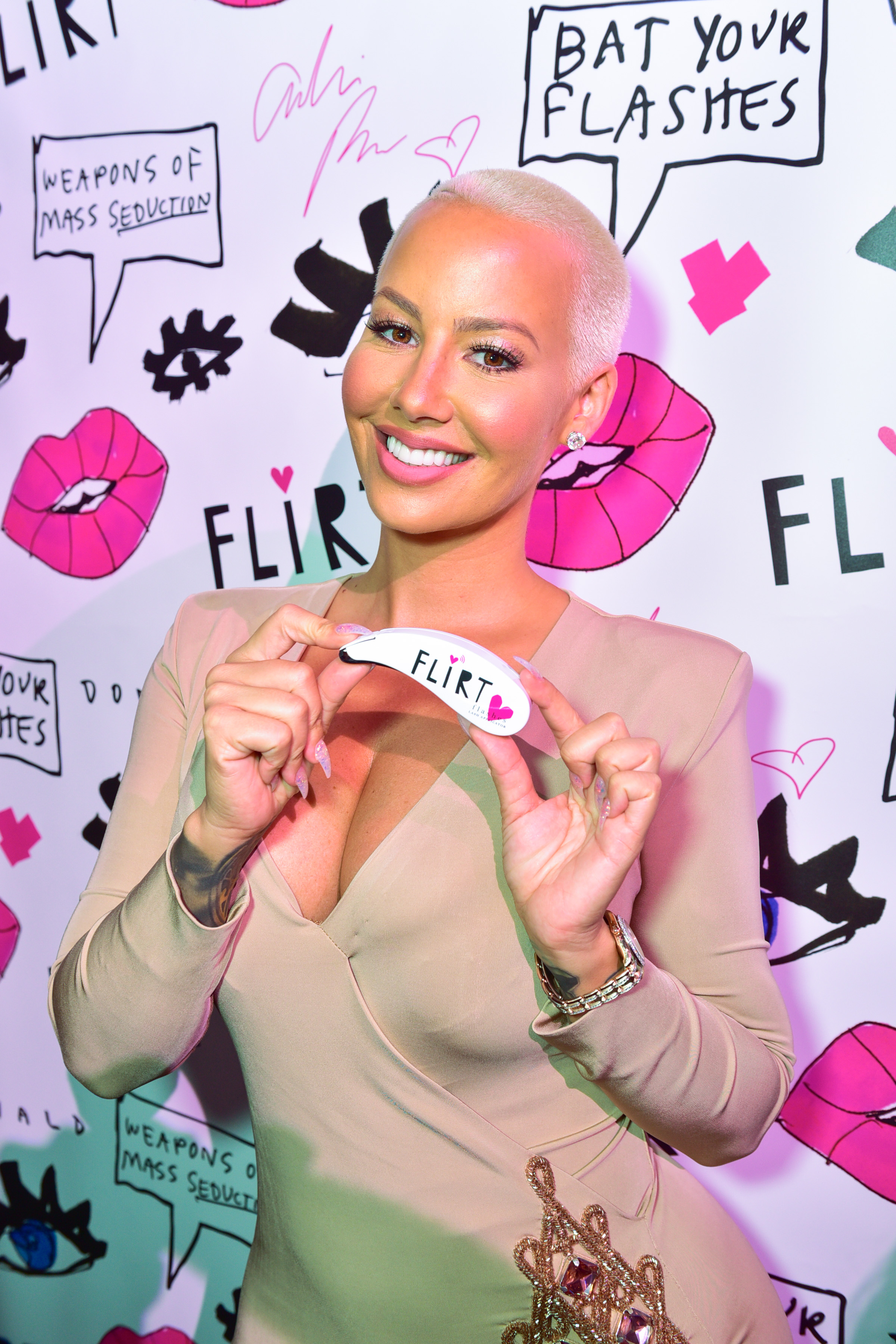 Donald Robertson & John Demsey Celebrate the Launch of Flirt Cosmetics with Amber Rose