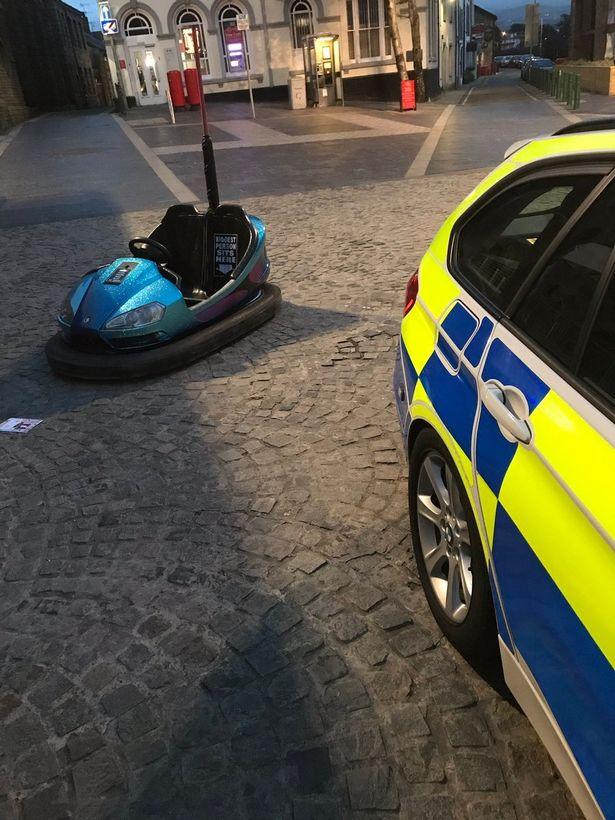Stolen dodgem car spotted being 'driven' on CCTV