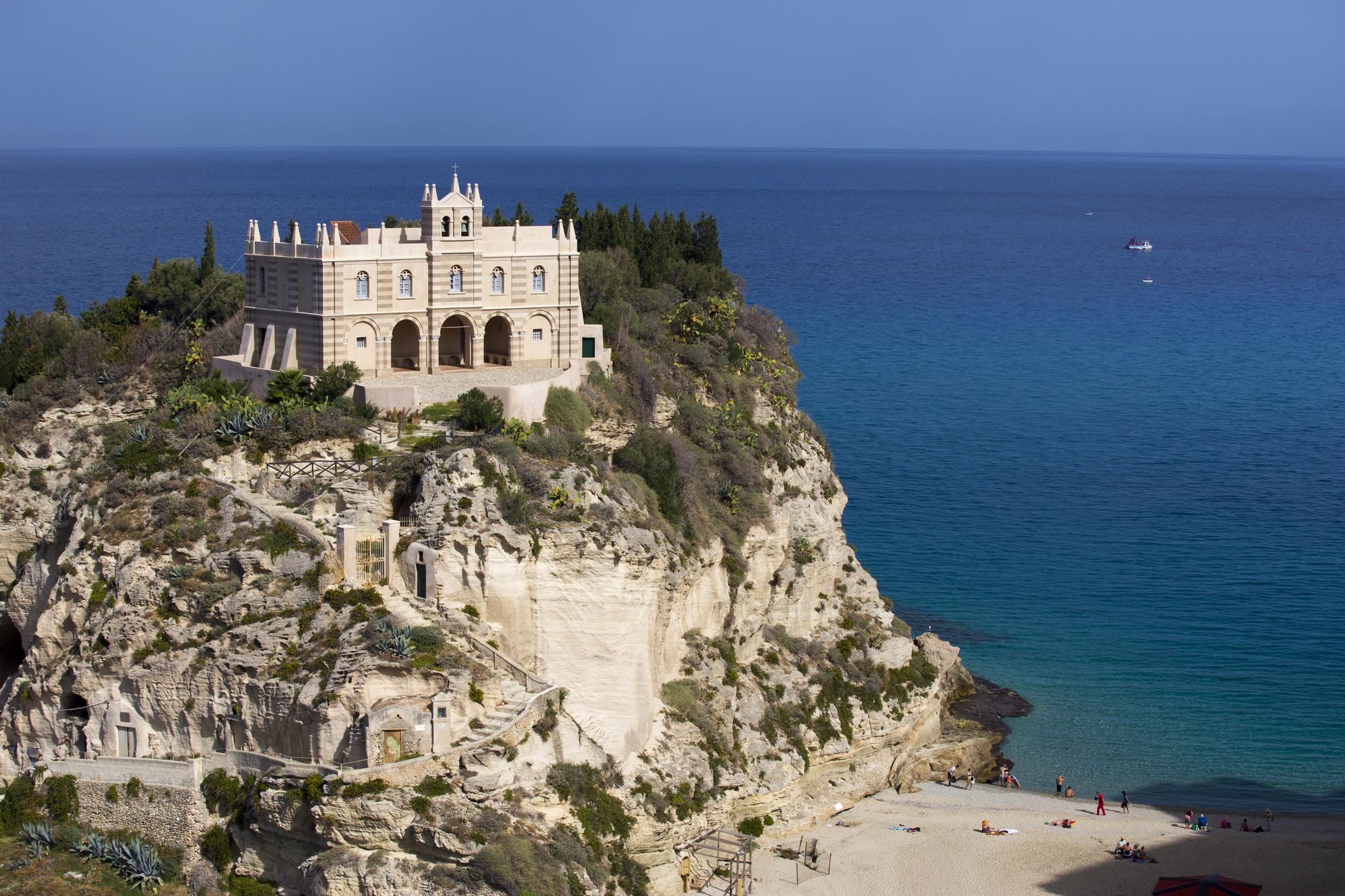 Church Chiesa Santa Maria dell'Isola, Tropea, Calabria,
