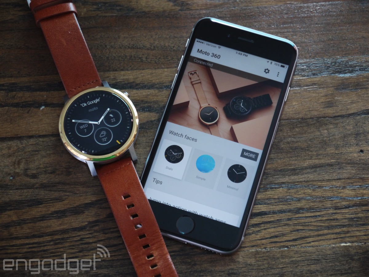 Moto 360 Review 2015 More Than Just Good Looks This Time Around Motorola Smart Watch Black Leather Using The And Android Wear With An Iphone