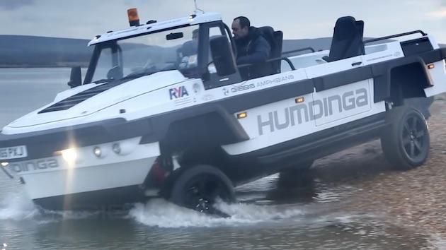 【ビデオ】レジャーでも緊急災害時でも活躍! ギブスの水陸両用トラック「ハムディンガ」