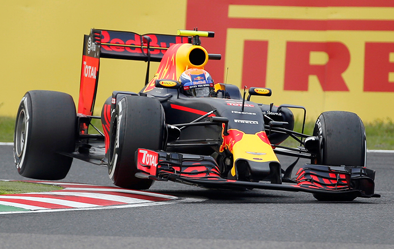 Red Bull's driver Max Verstappen of the Netherlands in action during the qualifying session.