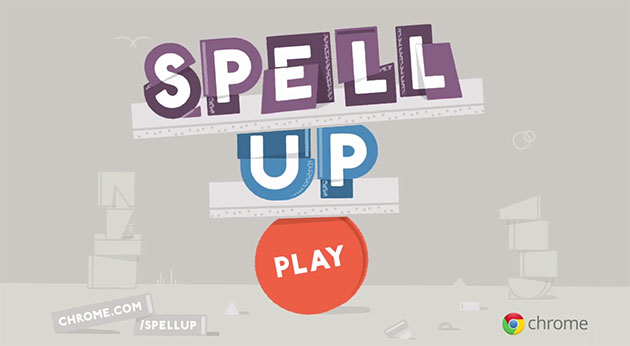 想知道自己的英文字彙如何?玩玩看 Google 的新遊戲 Spell Up 吧!