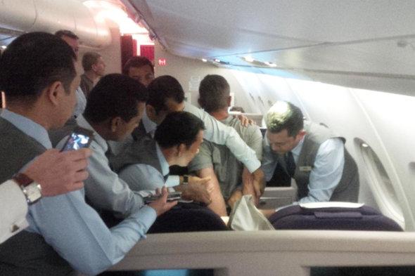 Man admits assault on Boris Johnson flight
