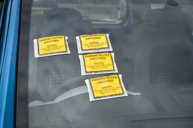 STOCK PHOTO  Parking tickets on a car in a railway station. PRESS ASSOCIATION Photo. Picture date: Friday May, 22, 2015. Photo credit should read: Ben Birchall/PA Wire