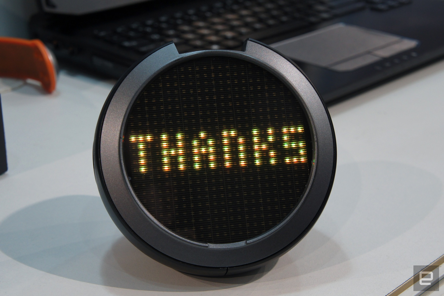 LED screen shows happy thoughts in your rear window