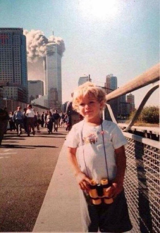Chilling 9/11 photo shows moments after plane struck Twin