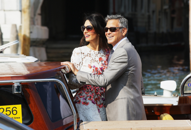 All the gorgeous looks from George & Amal's wedding