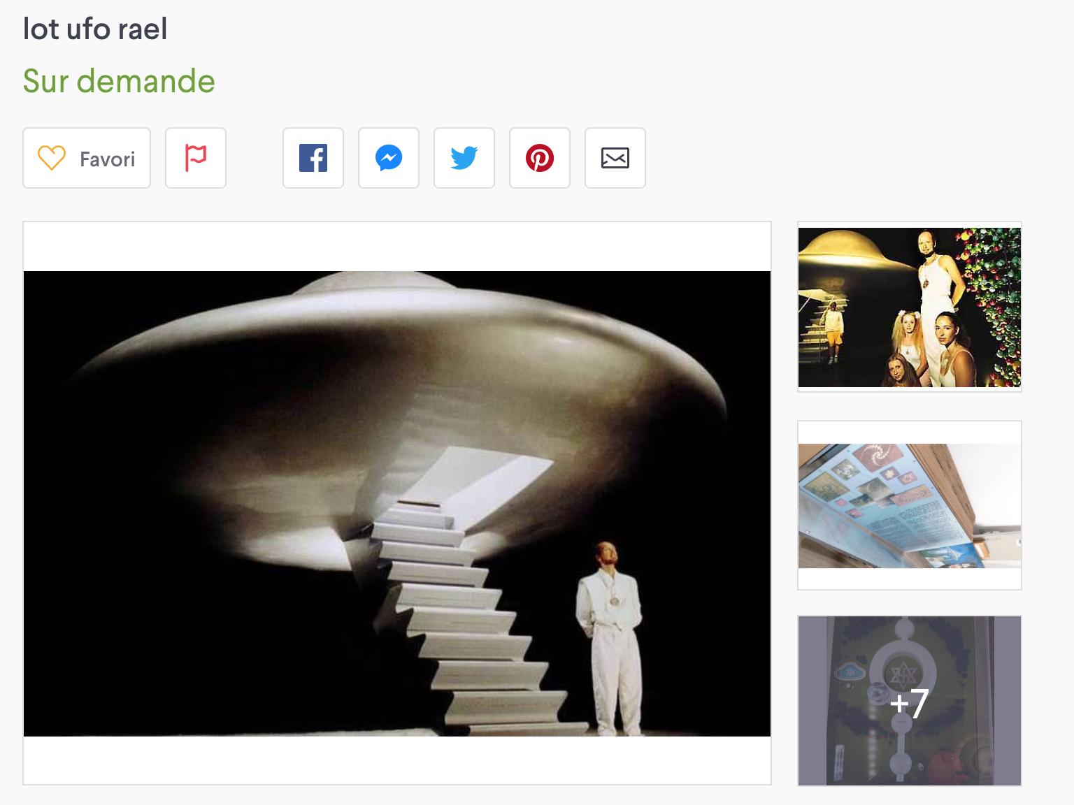 La «soucoupe volante» de Raël pourrait être à