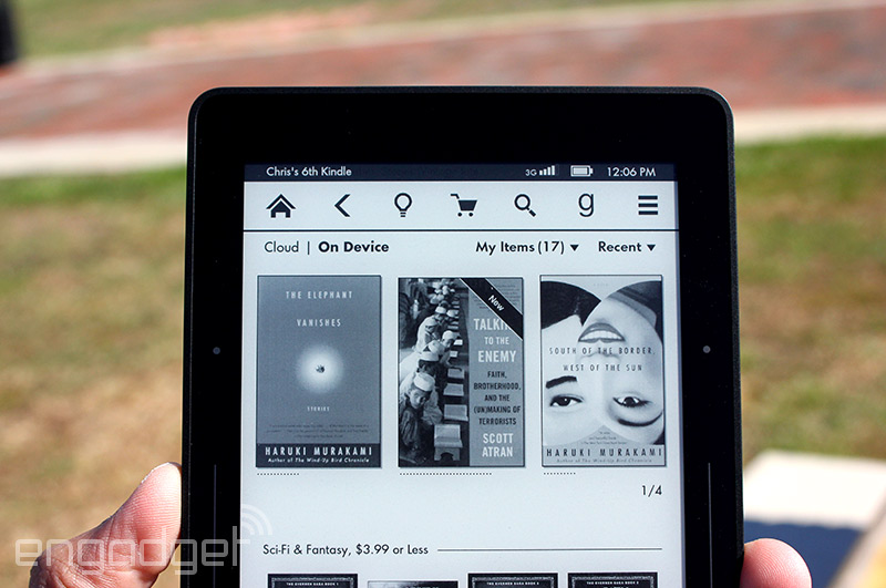 how to return to homepage on kindle voyage