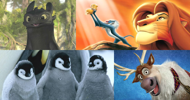 cutest movie animals ranked lion king how to train your dragon frozen toothless
