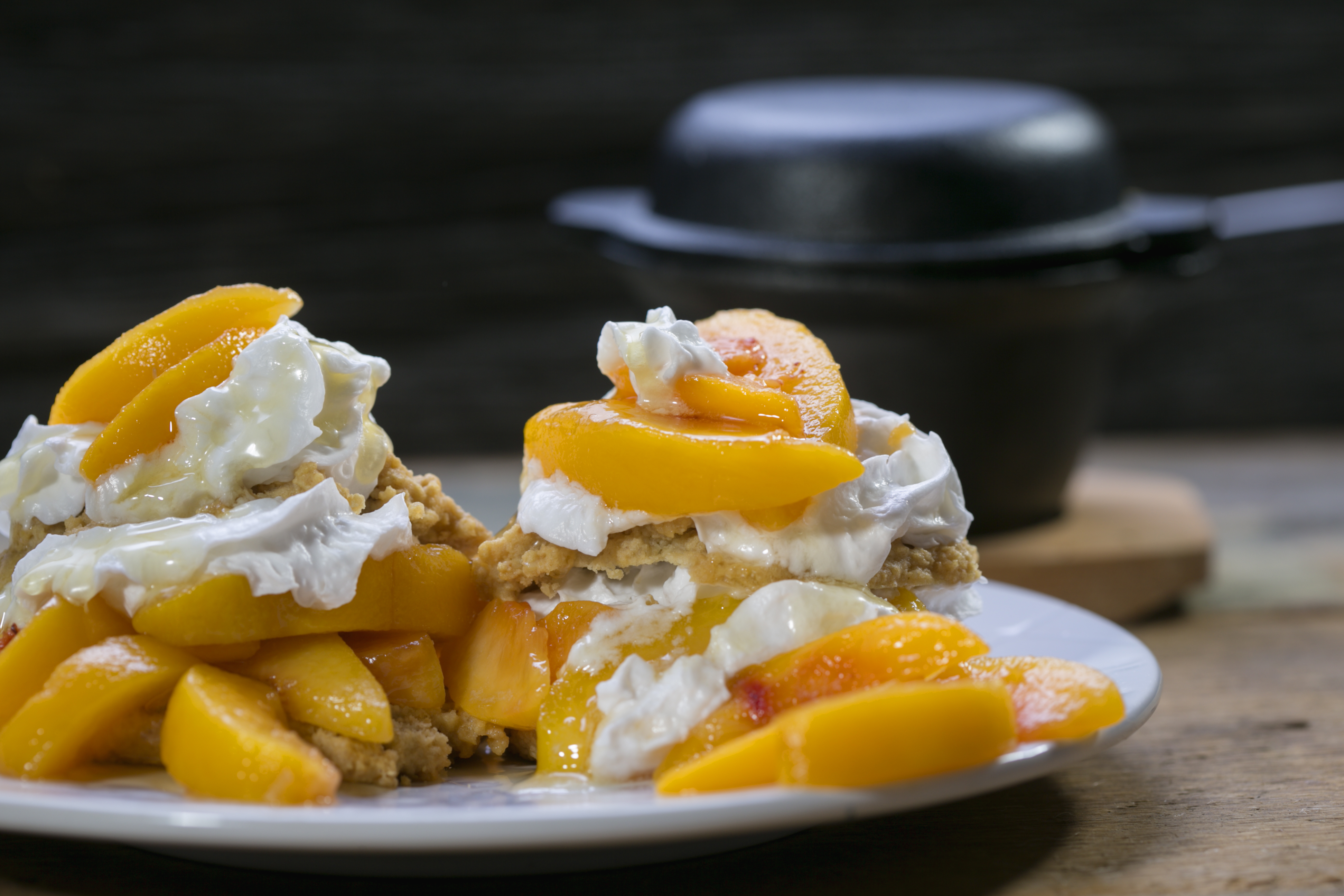 Decadent Gluten-Free Peach Shortcake With Coconut Whipped