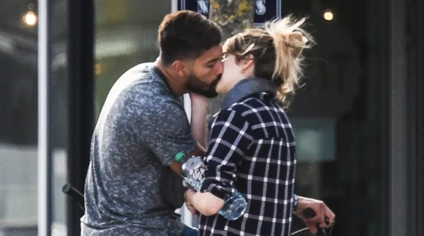 Ben Volavola and Shailene Woodley kissing in Bordeaux, France on March 9, 2018. INSTARimages.com