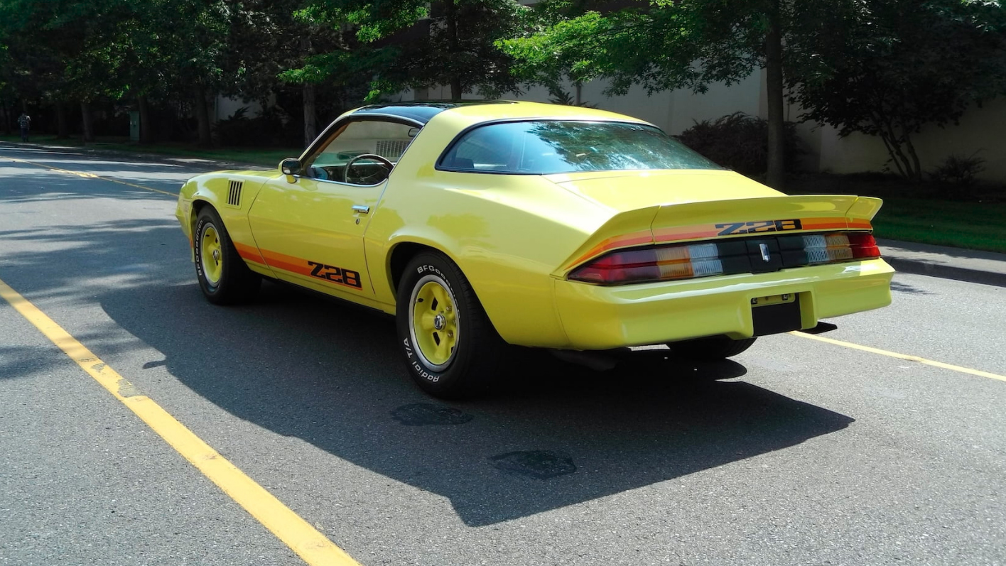 This Extremely Yellow 1979 Chevy Camaro Z28 With Rare Factory T Tops Did You Notice That It S