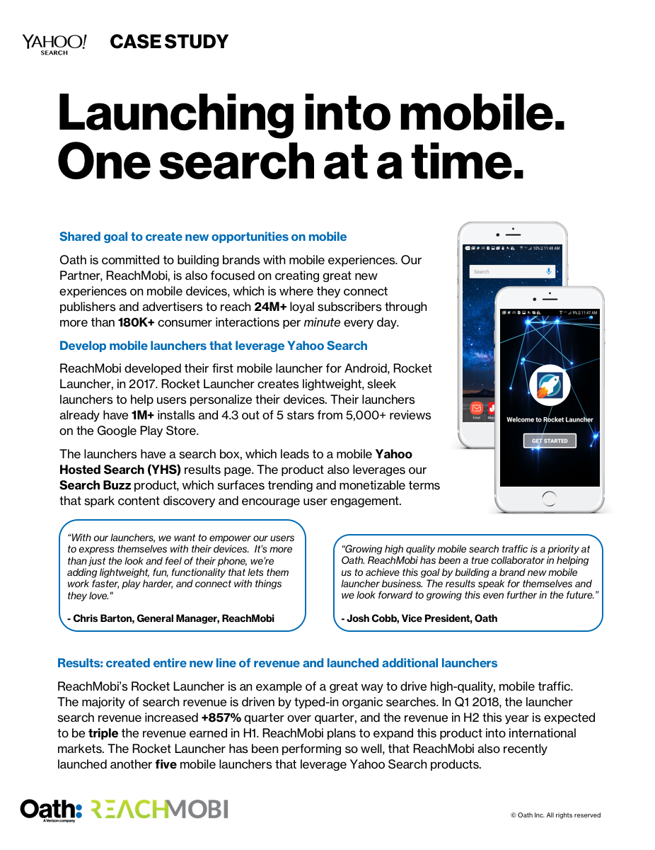 ReachMobi Mobile Launcher Search Case Study
