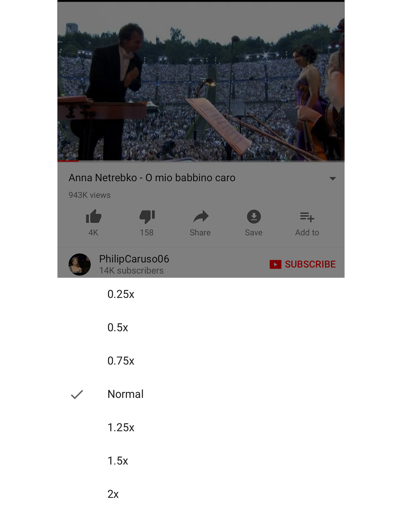 YouTube brings playback speed choices to mobile