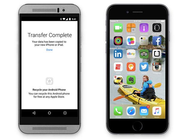 苹果带来「Move to iOS」应用程序,方便 Android 使用者转会