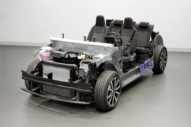 Rolling Chassis with the Modular Electric Drive Kit (MEB) - First pure EV platform for high volume