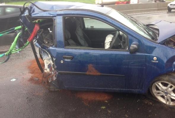 M25 car crash