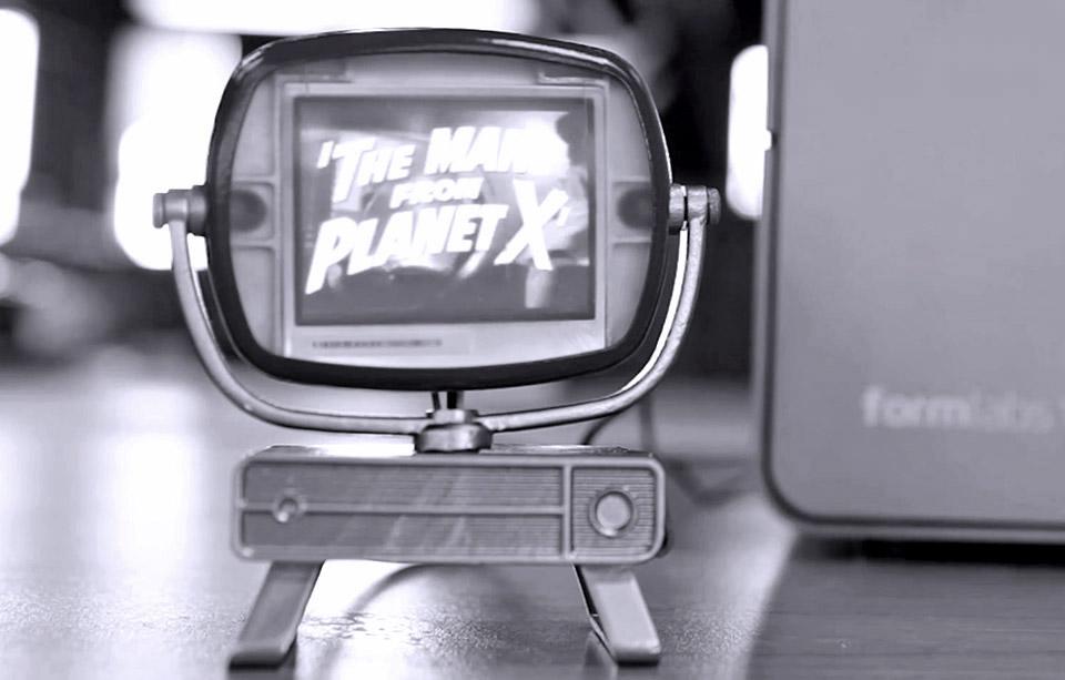這部經典的「小電視」,也是 3D 打印出來的