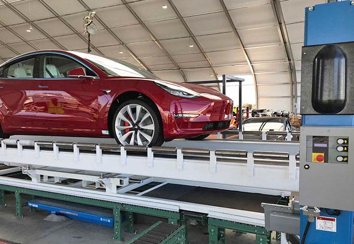 Tesla built Model 3 assembly 'tents' to meet production goals