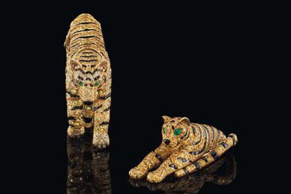 Cartier Tiger brooch and bracelet
